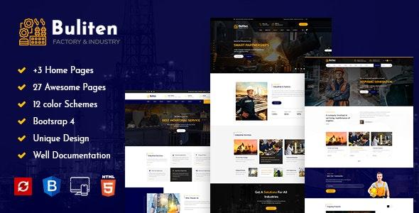Buliten- Factory & Industry HTML Template - Business Corporate