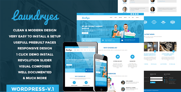 Laundryes WordPress theme - Fashion Retail