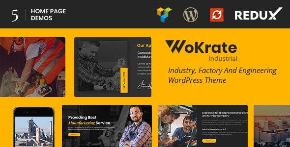 Wokrate – Industry & Factory WordPress Theme - Business Corporate