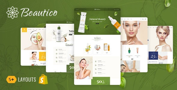 Beautico - Shopify Multi-Purpose Responsive Theme - Health & Beauty Shopify