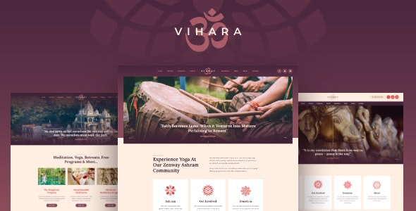 Vihara | Ashram Oriental Buddhist Temple WordPress Theme - Churches Nonprofit