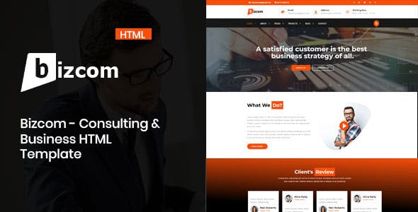 Bizcom - Consulting & Business HTML Template