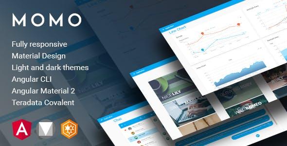 Momo - Angular 7 Material Design Admin Template
