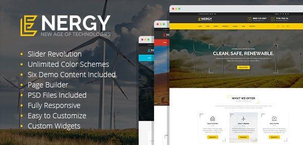 Energy - solar and alternative energy WordPress Theme