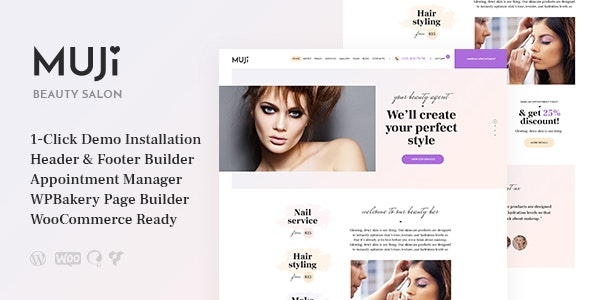 Muji | Beauty Shop & Spa Salon WordPress Theme - Health & Beauty Retail