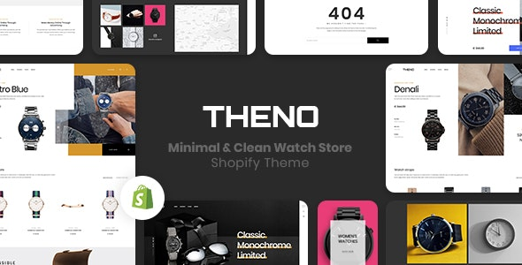 THENO – Minimal & Clean Watch Store Shopify Theme - Shopify eCommerce