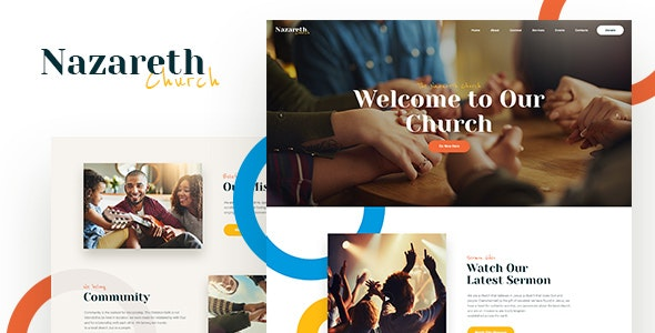 Nazareth | Church & Religion WordPress Theme - Churches Nonprofit