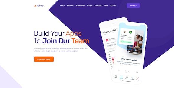 Xima - App Landing PSD Template