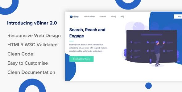 vBinar - Product Landing Page - Site Templates