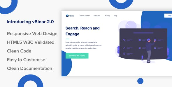 vBinar - Product Landing Page