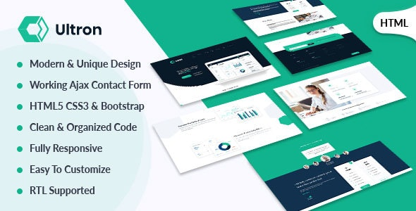 Ultron  - Responsive Software Landing Page Template - Software Technology