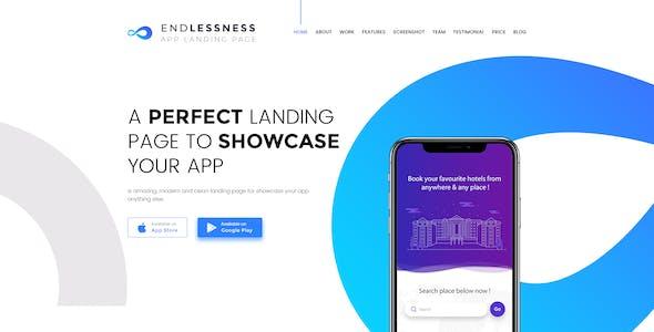 Endlessness - App Showcasing Psd Template