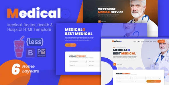 Medicalo - Medical, Doctor & Hospital HTML Template - Health & Beauty Retail