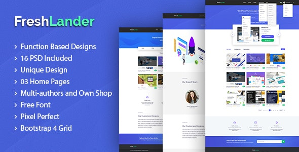 FreshLander - Marketplace for Easy Digital Downloads PSD Template - Miscellaneous PSD Templates