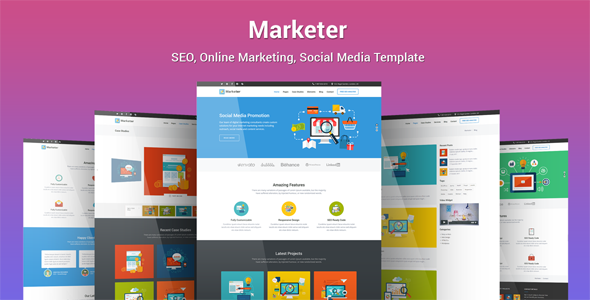 Marketer - SEO, Online Marketing, Social Media WordPress Theme - Marketing Corporate