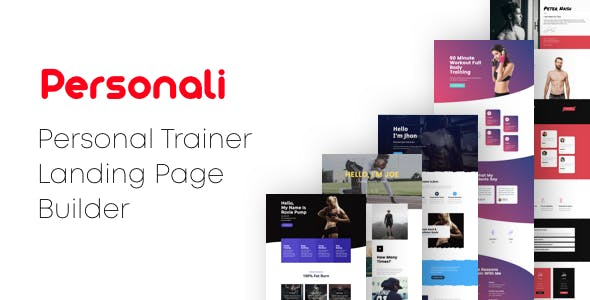 Personali - Personal Trainer Landing Pages with Page Builder
