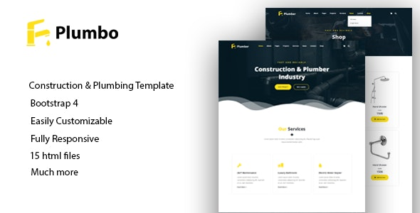 Plumbo - Responsive HTML5 Template - Business Corporate