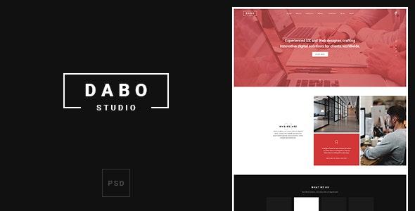 Dabo - Creative Onepage PSD Template - Photoshop UI Templates