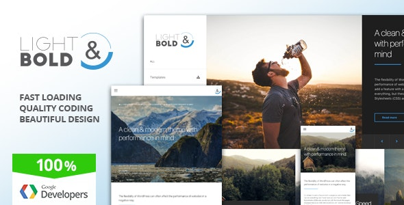 Light & Bold - Speed-Focused WordPress Theme - Corporate WordPress
