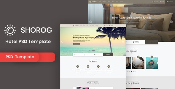 Shorog - Hotel PSD Template - Travel Retail