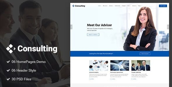 Consulting - Finance Joomla Template - Business Corporate