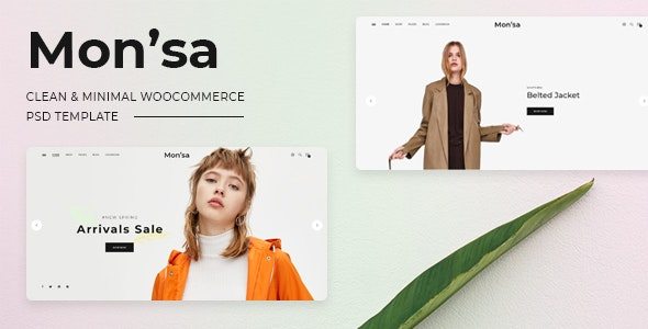 Mon'sa - Clean, Minimal Store PSD Template - Shopping Retail