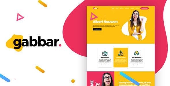 Gabbar - Portfolio HTML Template - Portfolio Creative