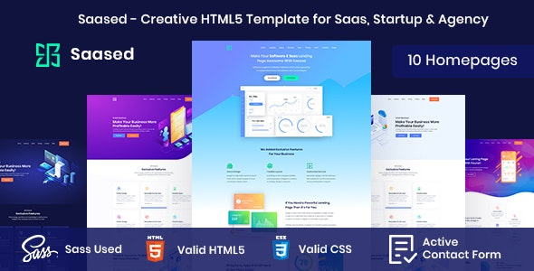Saased - Creative HTML5 Template for Saas, Startup & Agency - Software Technology