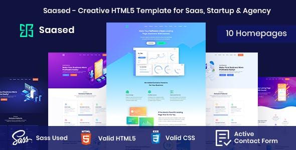 Saased - Creative HTML5 Template for Saas, Startup & Agency