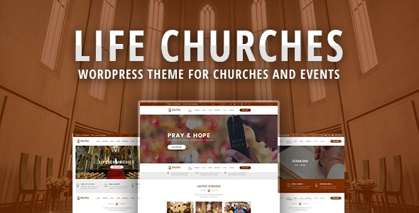 Life Churches - WordPress Theme for Churches and Events - Churches Nonprofit
