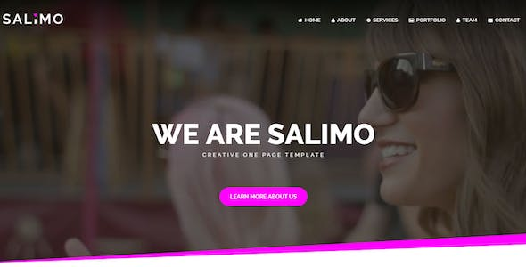 Salimo - One Page Parallax