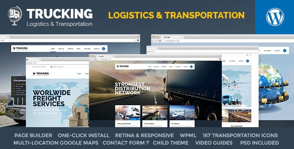 Trucking - Transportation & Logistics WordPress by pixel-industry