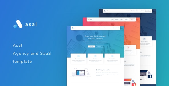 Asal - Agency and SaaS Template - Business Corporate