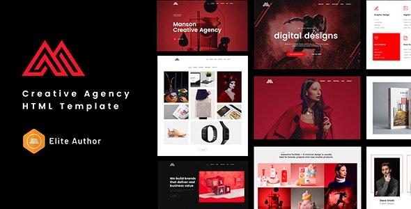 Manson - Creative Agency HTML Template - Creative Site Templates