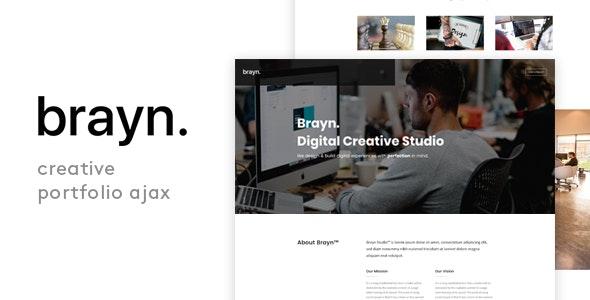 Brayn - Creative Portfolio Agency Ajax Template - Portfolio Creative