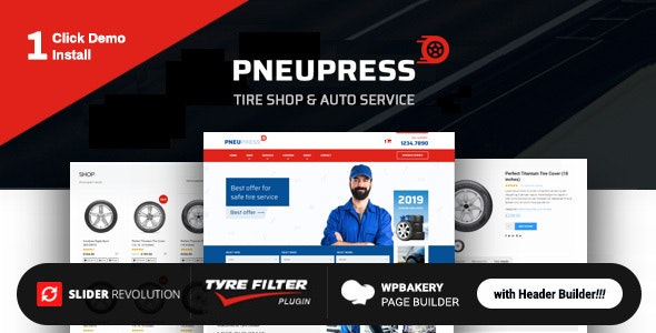 PneuPress - Tire Shop and Car Repair WordPress Theme - Business Corporate