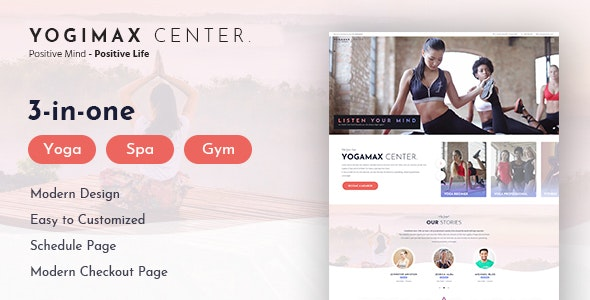 YogiMax | Healthy and Sport PSD Template - Health & Beauty Retail