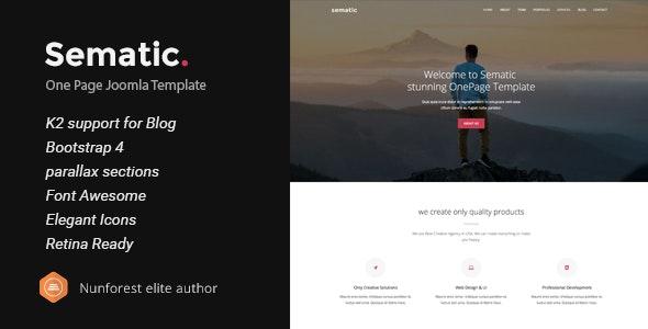 Sematic - One Page Joomla Template - Creative Joomla