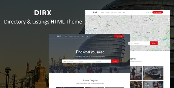 DirX - Directory Listing HTML Template - Business Corporate