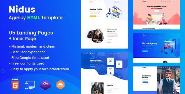 Nidus - Agency HTML Template - Portfolio Creative
