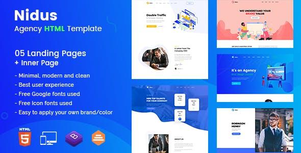 Nidus - Agency HTML Template