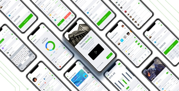 Mobile Banking App Kit - Sketch UI Templates
