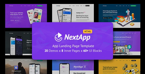 NextApp - App Landing Pages Pack - Landing Pages Marketing