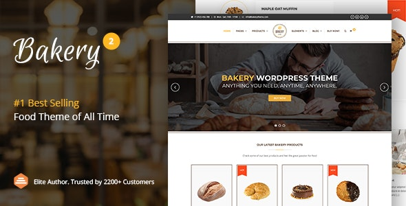 Bakery | WordPress Bakery, Cakery & Food Theme - Food Retail