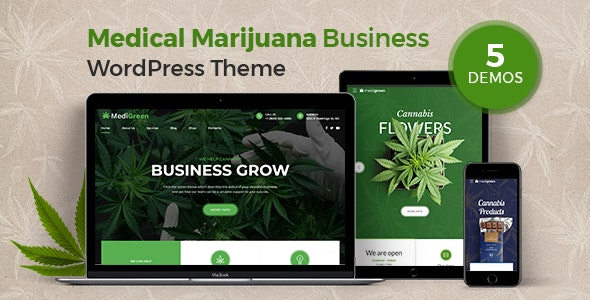 MediGreen - Medical Marijuana & Dispensary WordPress Theme