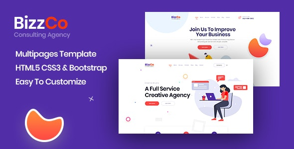 Bizzco - Consulting Agency Company Template - Business Corporate