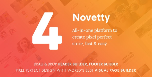 Novetty - Visual Frontend Page Builder Magento 2 Theme by CleverSoft