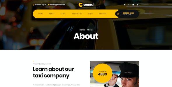 Conexi - Online Taxi Booking Service PSD Template
