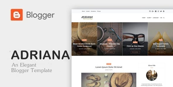 Download Adriana - An Elegant Responsive Blogger Theme
