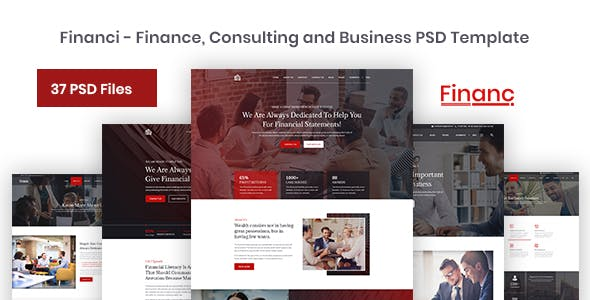 Financi - Finance, Consulting and Business PSD Template